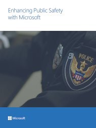 Enhancing Public Safety with Microsoft
