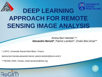 DEEP LEARNING APPROACH FOR REMOTE SENSING IMAGE ANALYSIS