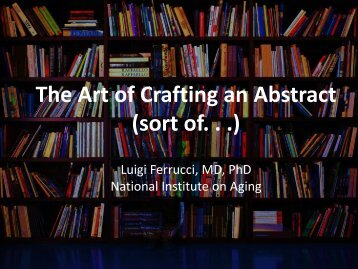 The Art of Crafting an Abstract (sort of  .)