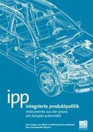 IPP - Integrierte Produktpolitik - IPP - Home