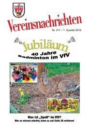 VfV Hildesheim - Vereinszeitung 1/2016