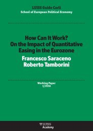 Easing in the Eurozone Francesco Saraceno Roberto Tamborini