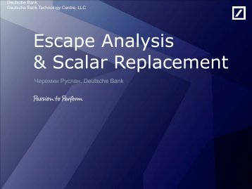 Escape Analysis & Scalar Replacement