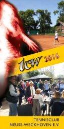 Clubheft des TCW - Ausgabe für 2016