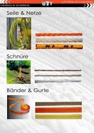 Schnüre Seile & Netze Bänder & Gurte