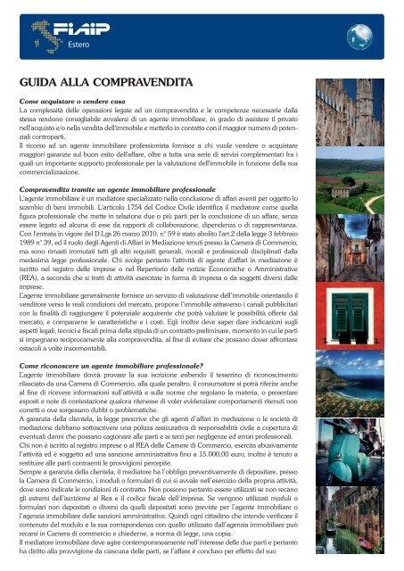 VADEMECUM VENDITA ACQUISTO IN ITALIA