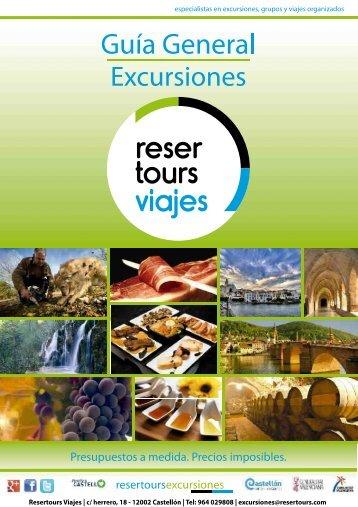Catálogo general de excursiones propias desde Castellón y Provincia Especial Grupos