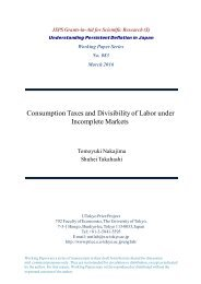 Consumption Taxes and Divisibility of Labor under Incomplete Markets