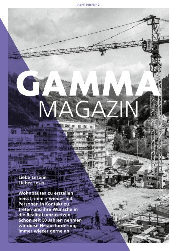 Gamma Magazin April 2016