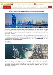 Take a Glance at Vacationers Exclusive Dubai Tour