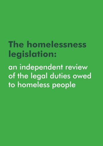 The homelessness legislation