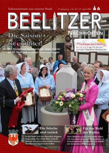 Beelitzer Nachrichten - April 2016