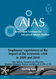 Employees' experiences of the impact of the economic crisis ... - AIAS