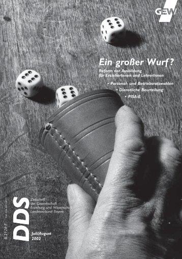 """(LQ JUR‰HU :XUI """" - GEW Landesverband Bayern"""