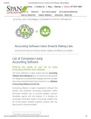 Get Accounting Software Customer Lists from Span Global Services