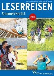 Leserreisen – Sommer/Herbst 2016