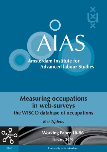 Measuring occupations in web-surveys, the WISCO database - AIAS