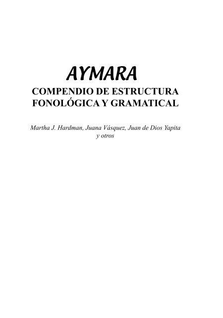 Compendio De Estructura Fonológica Gramatical Illa
