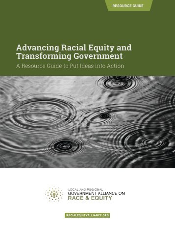 Advancing Racial Equity and Transforming Government