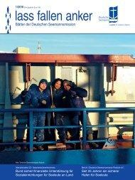 lass fallen anker - Blätter der Deutschen Seemannsmission