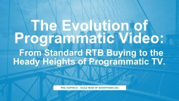 The Evolution of Programmatic Video