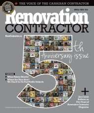 Renovation Contractor - April - May Issue