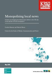 Monopolising local news