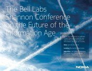 The Bell Labs Shannon Conference on the Future of the Information Age