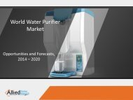 World Water Purifier Market 2015-2022
