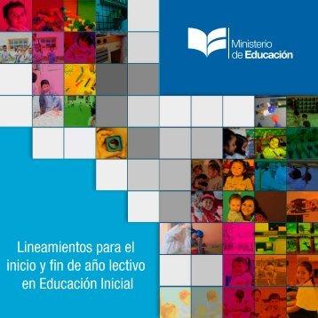 Lineamientos para el inicio y fin de año lectivo en Educación Inicial