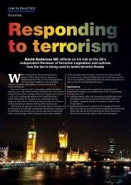 to terrorism
