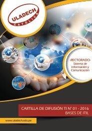 CARTILLA DE DIFUSIÓN TI N° 01 - 2016 BASES DE ITIL