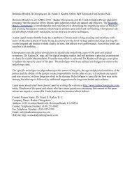 Redondo Beach CA Chiropractor, Dr. Frank E. Kaden, Offers Safe Solutions For Chronic Pain
