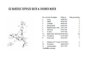 Exposed Bath 7 Shower Mixer