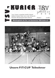 Mitteilungsblatt des Turn - TSV Lindau 1850 eV