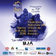 FNUJA Programme 2016 déf