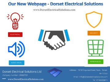 Our New Webpage - Dorset Electrical Solutions