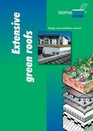 Extensive green roofs - VALJU