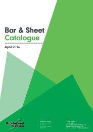 Bar & Sheet Catalogue