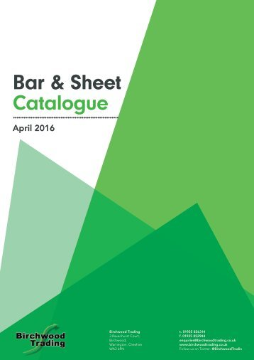 Bar & Sheet Catalogue