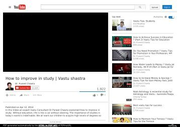 How to improve in study Vastu shastra