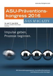 ASU-Kongressmagazin 2016