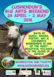 Cushendun's big arts weekend 29 April - 2 MAY 2016