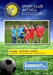 Sport Club Aktuell - Ausgabe 27 - 01.05.2016 - SV Viktroia Goch