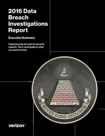 2016 Data Breach Investigations Report