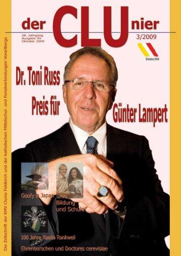Dr. Toni Russ – Preis an Günter Lampert v - KMV Clunia Feldkirch