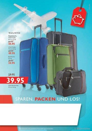"""Lederwaren """"Sparen, Packen und Los!"""""""