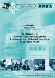Rainer Meyer Theodor Diebler Michaela Sorsch Das BWSA e. V ...