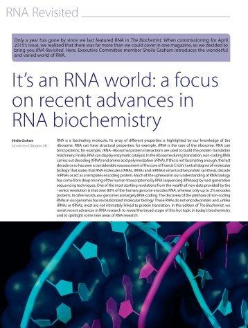 RNA biochemistry