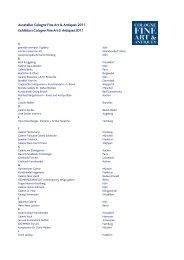 Ausstellerliste 24.10 - Cologne Fine Art & Antiques
